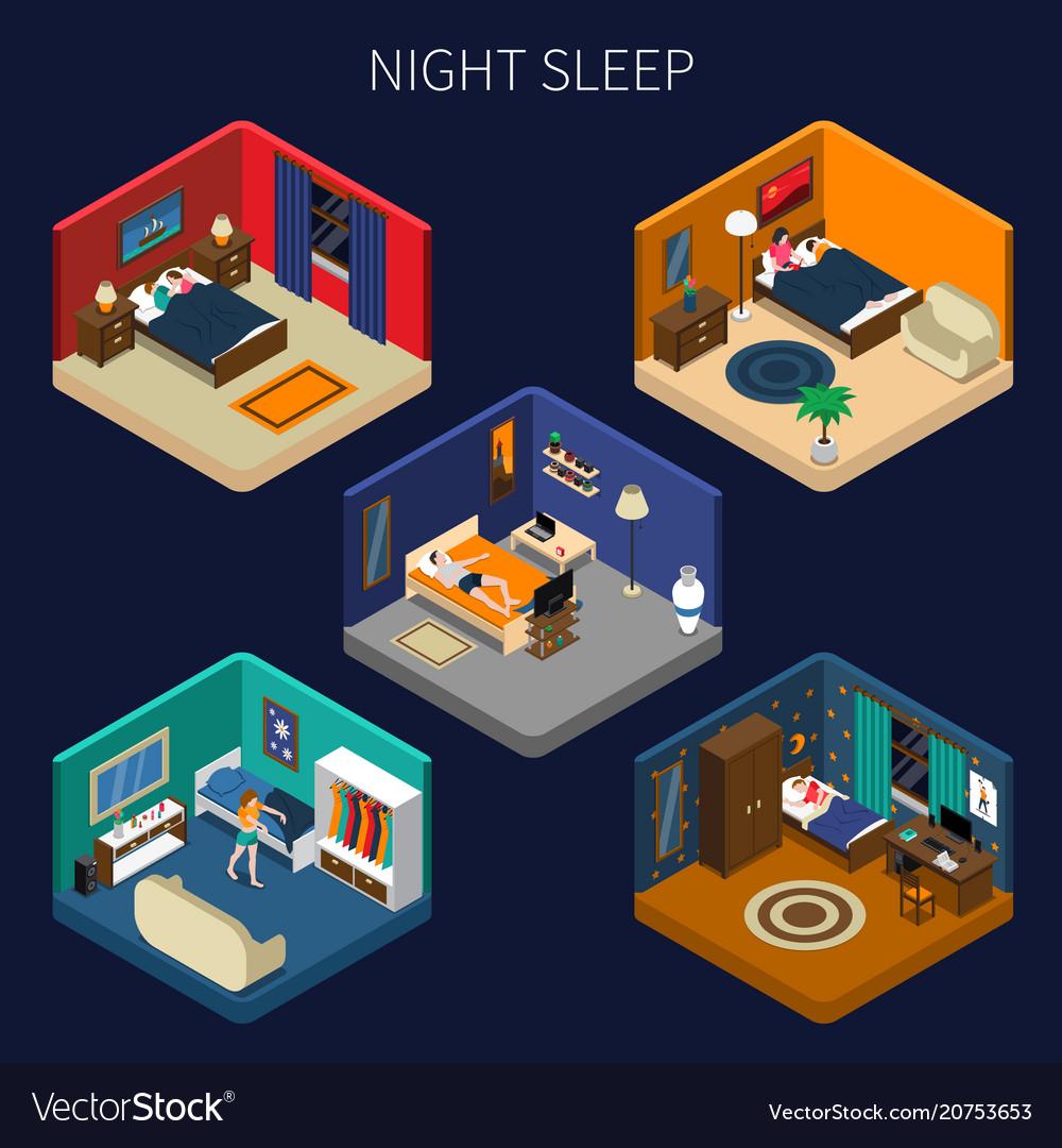 Night sleep isometric compositions set