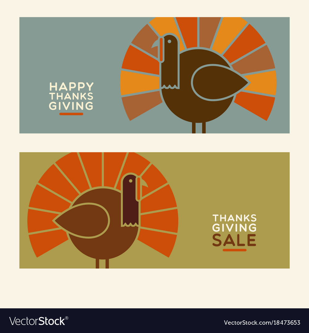 Thanksgiving turkey banner designs