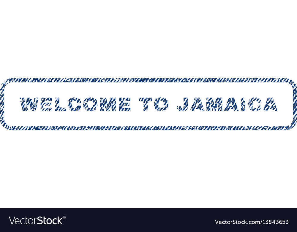 Welcome to jamaica textile stamp vector image