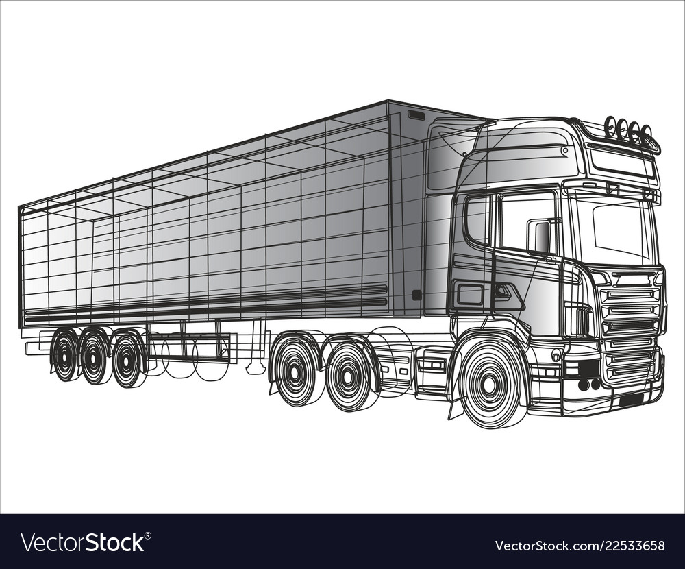 Black and white truck painted lines