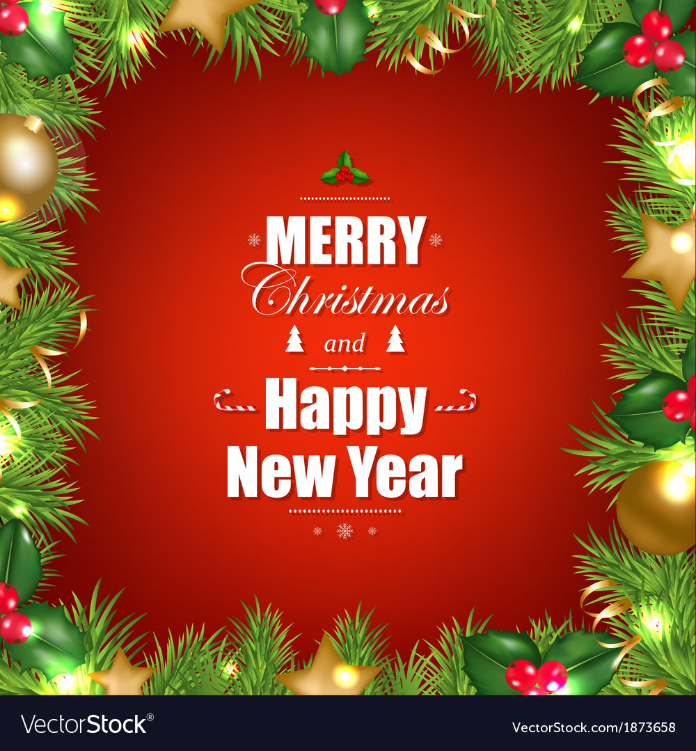 Christmas Greeting Card Royalty Free Vector Image