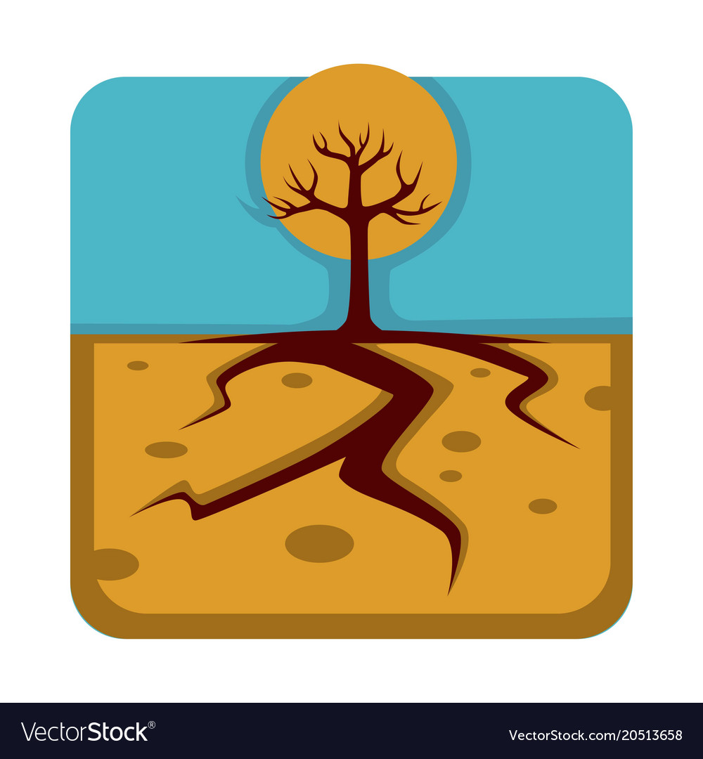 Dangerous drought that destroys plants and make