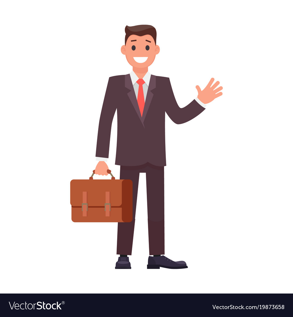 Flat design character businessman