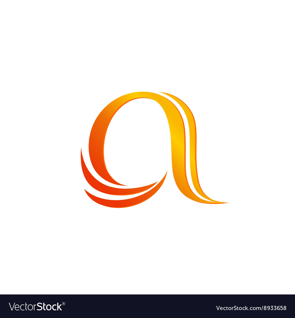 Letter A logo design template