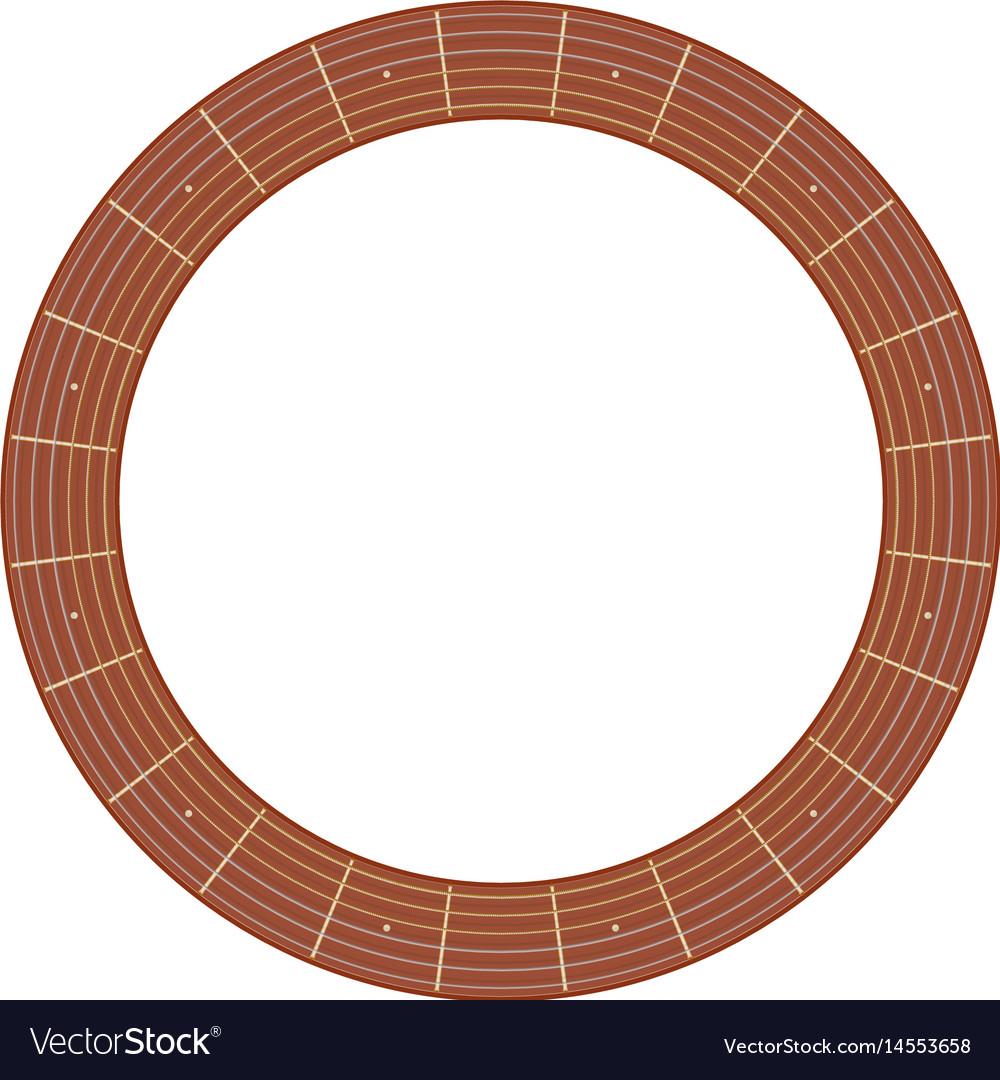 Round guitar fretboard