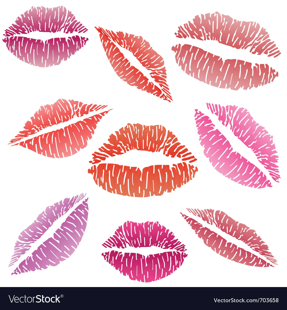 Sexy lipstick kiss