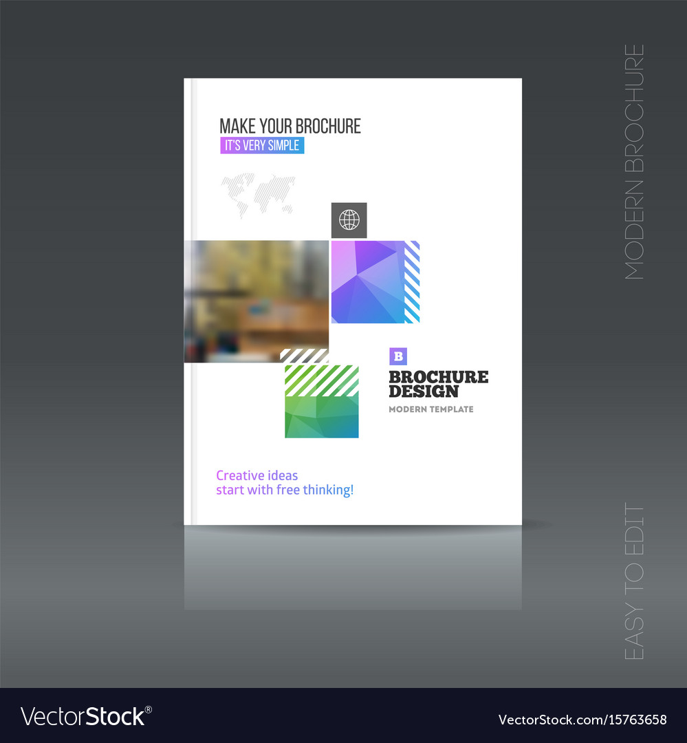 simple city brochure style flyer promotion vector image