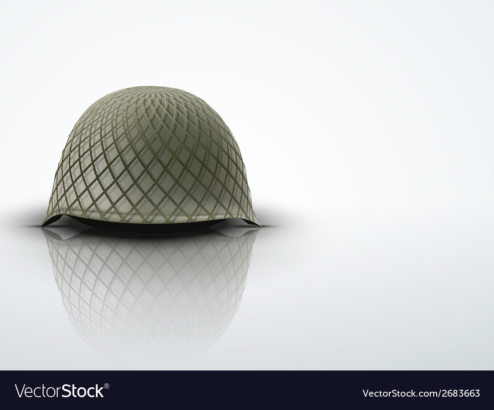 Background with Military classic helmet