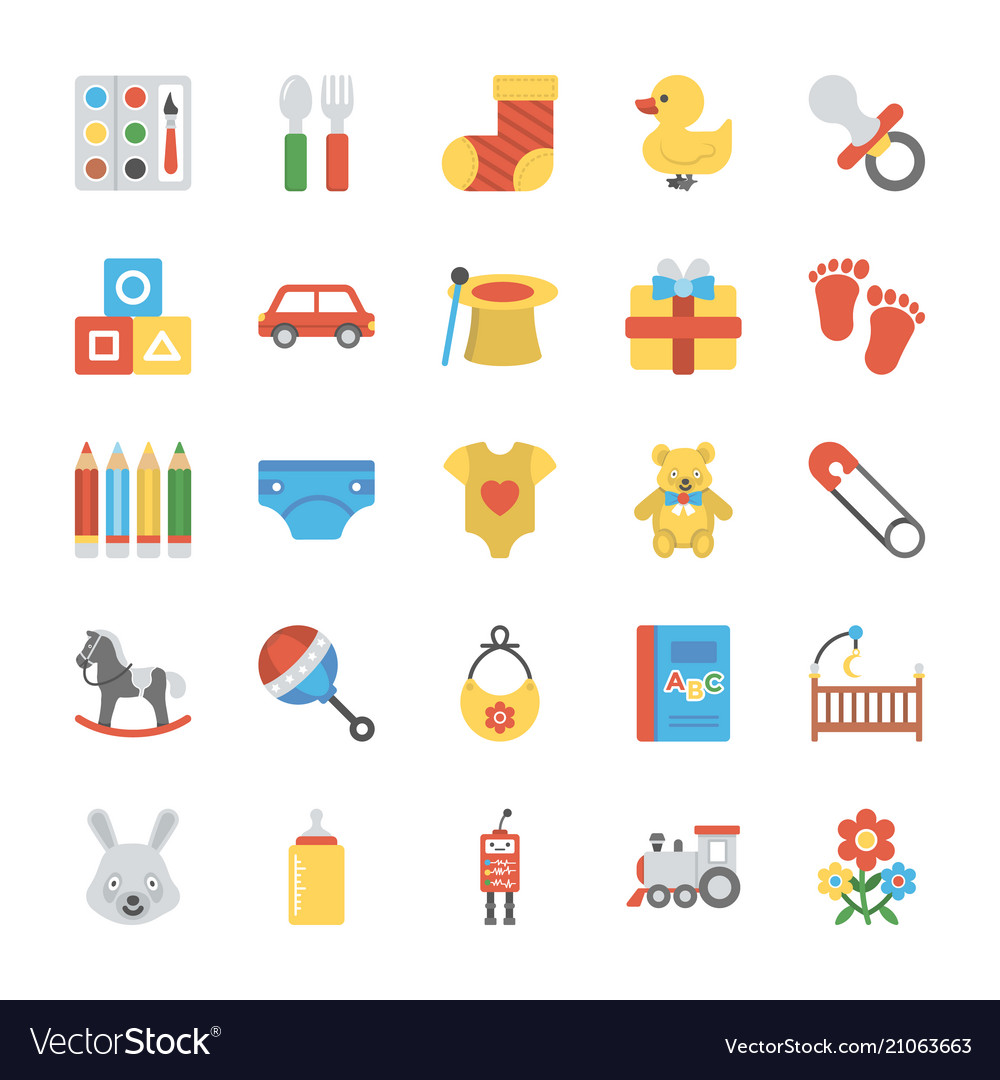 Children and kids icons set
