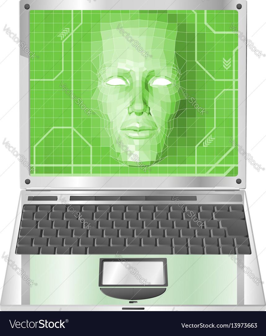 Laptop woman concept