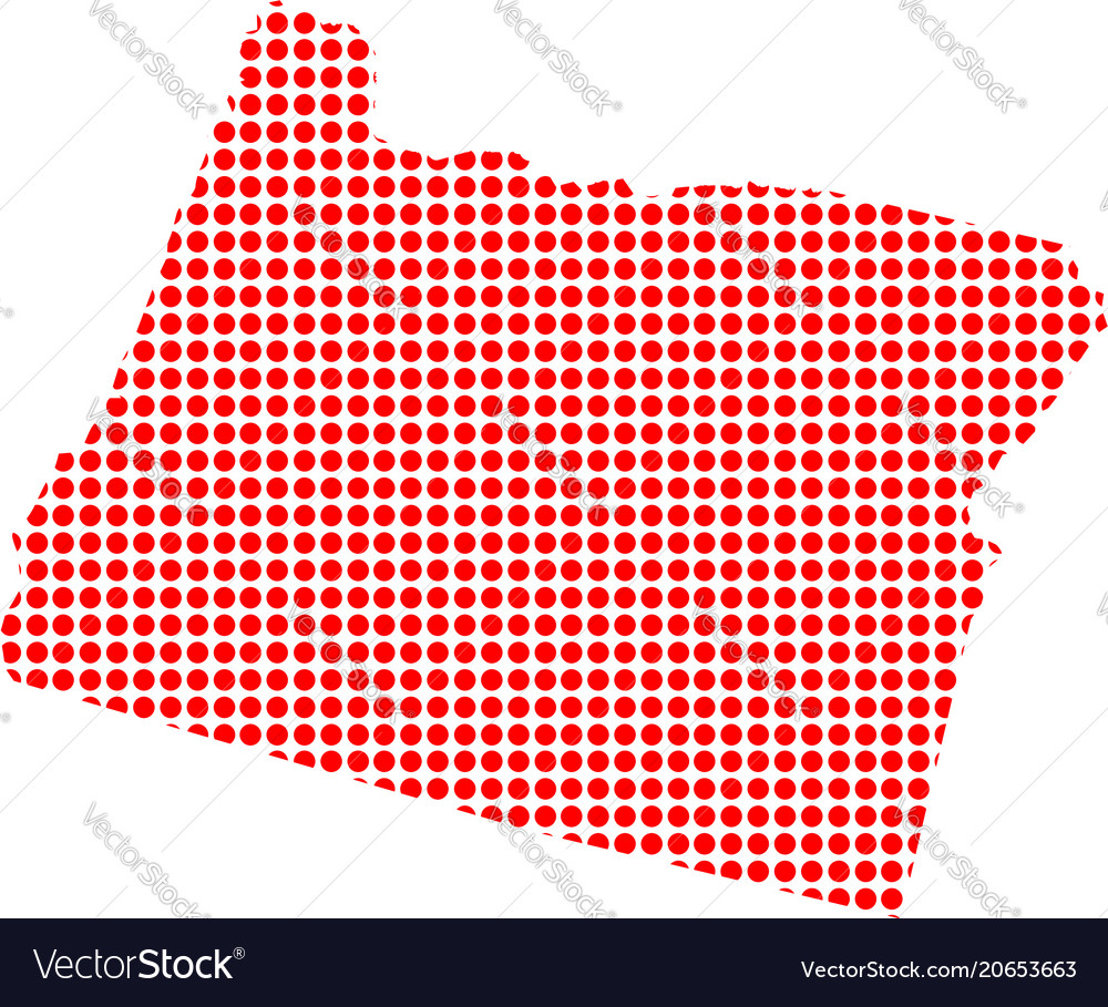 Free Oregon Map.Red Dot Map Of Oregon Royalty Free Vector Image
