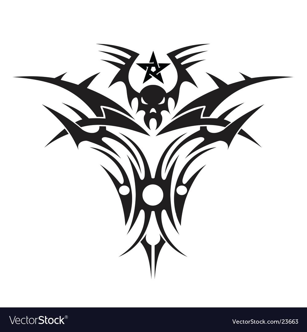 Tattoo of a skull vector image