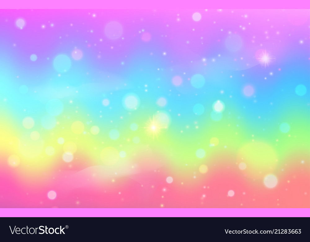unicorn rainbow wave background mermaid galaxy vector 21283663