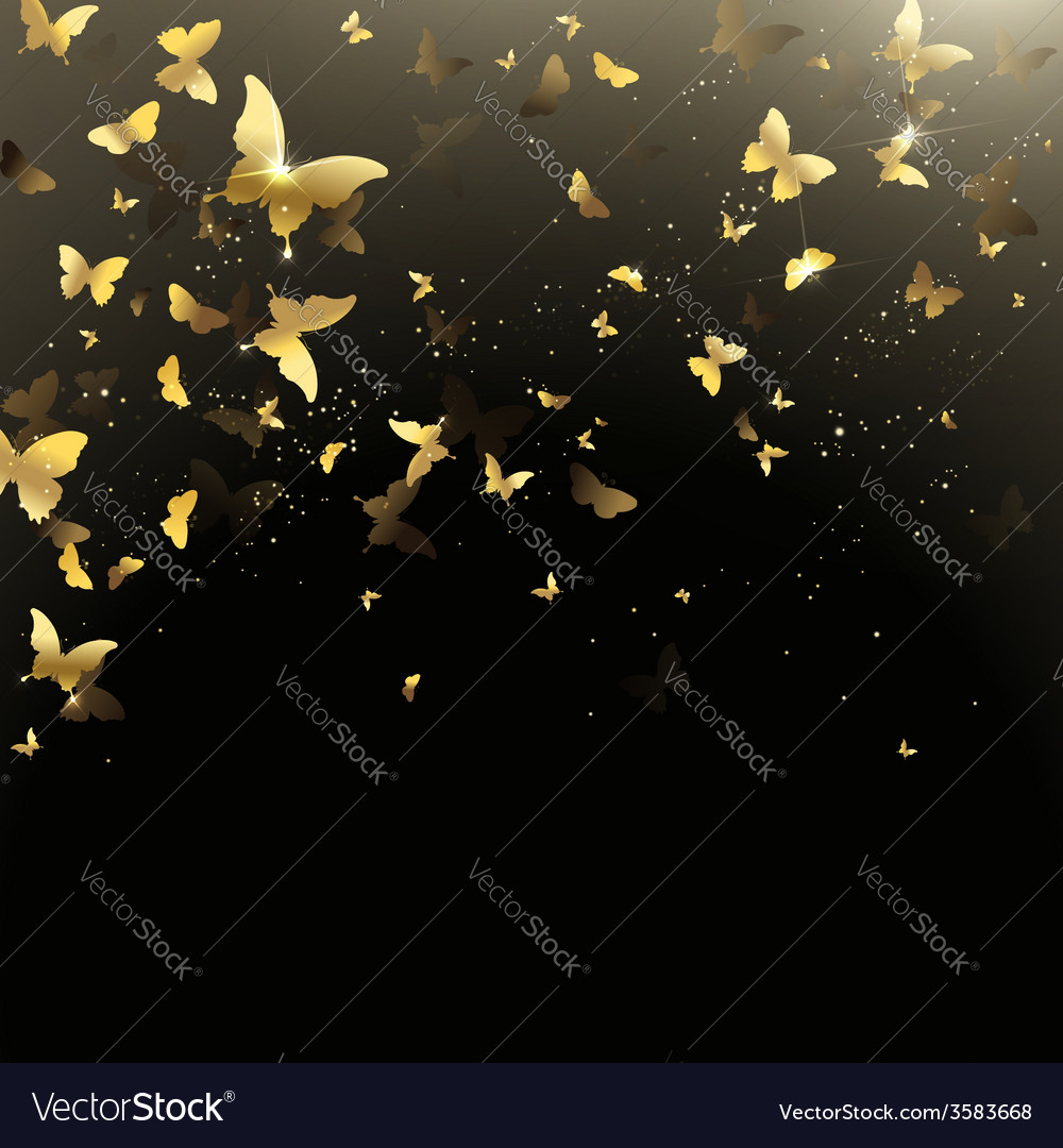 Background of butterflies confetti
