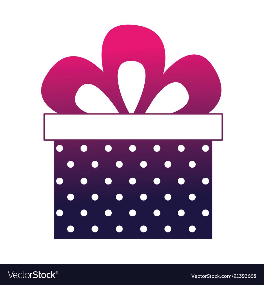 Birthday dotted gift box bow celebration