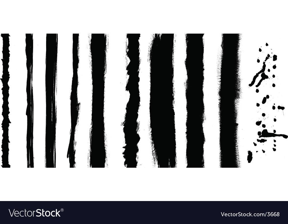 Black stripes vector image