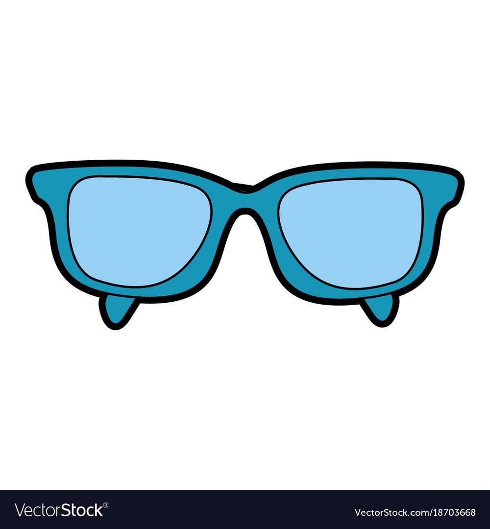 Cute blue glasses cartoon