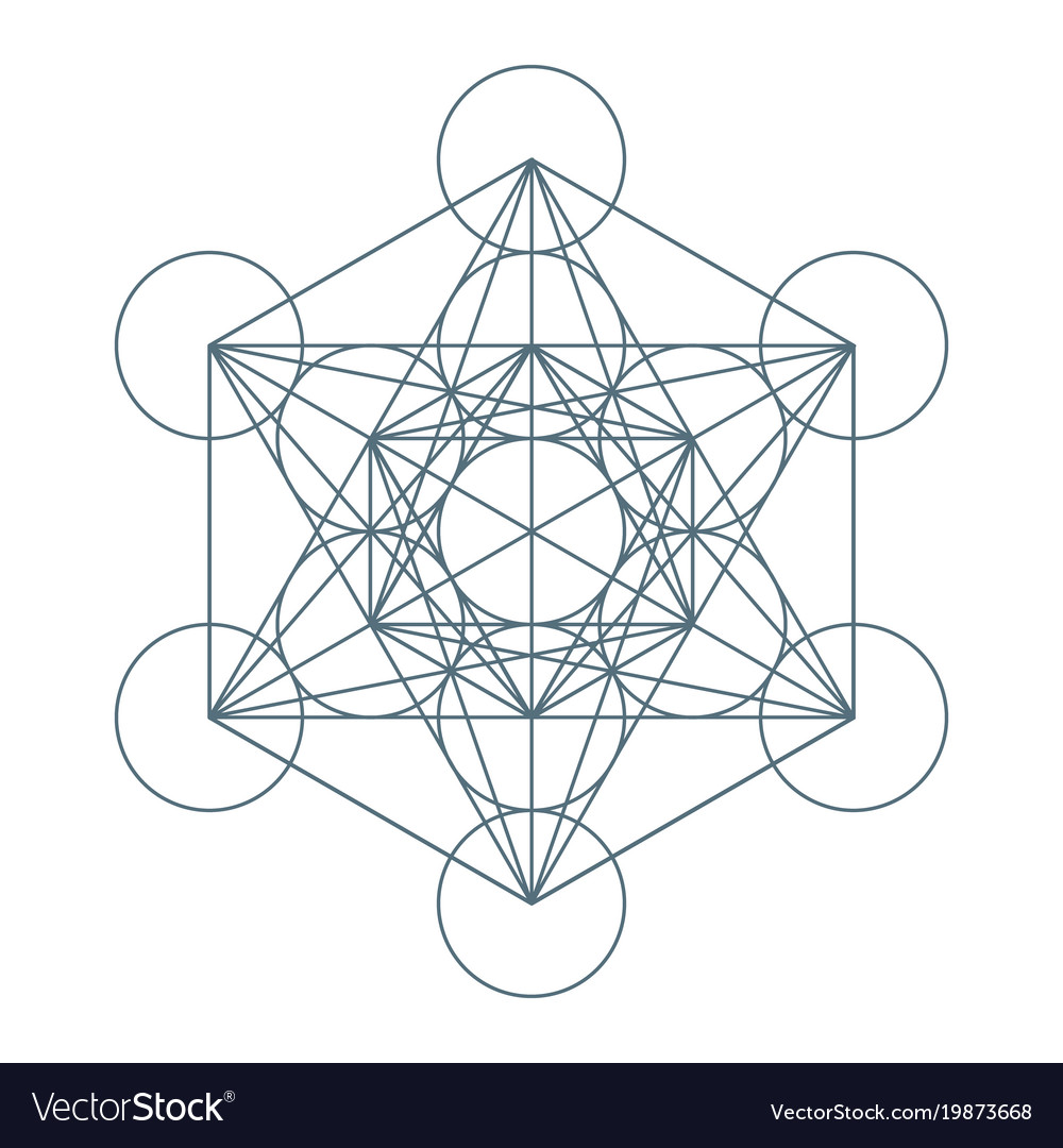 Flower of life sacred geometry symbol of harmony