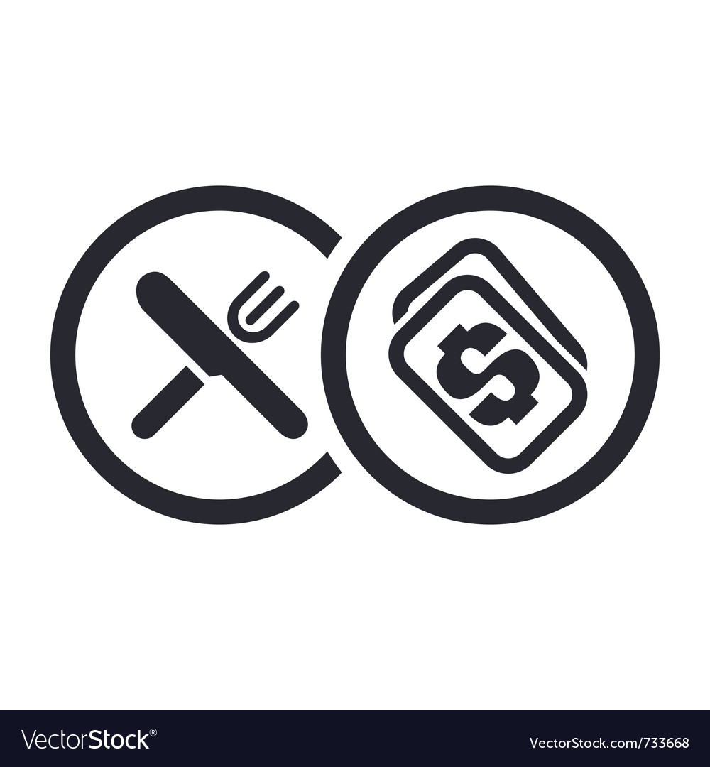 Food price icon vector image