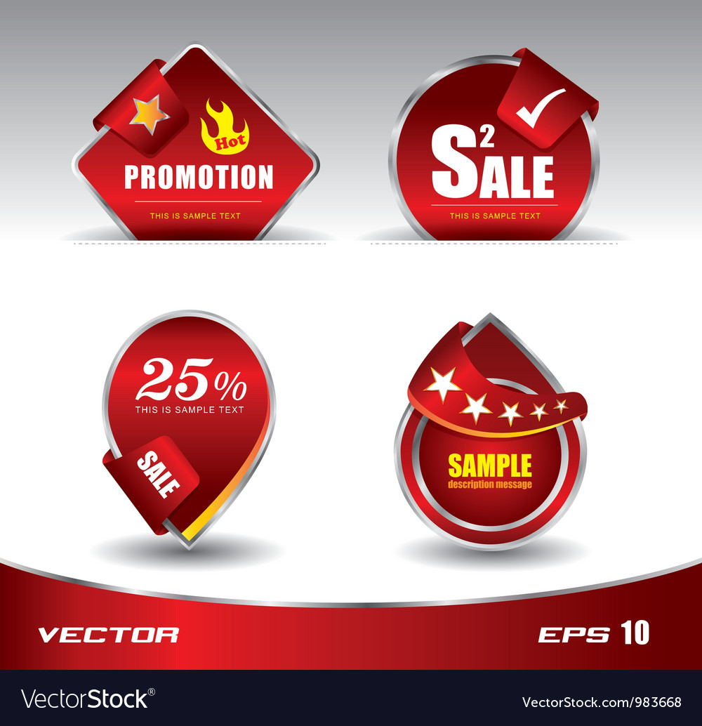 Red sale promotion
