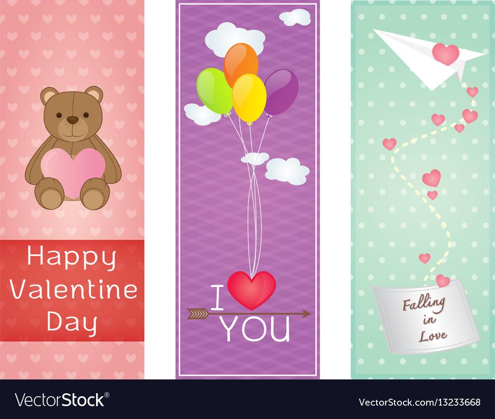 Valentine greeting cards design