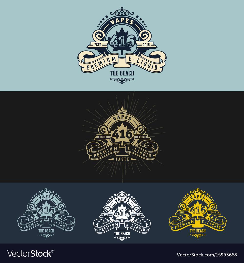Vape vintage logo design