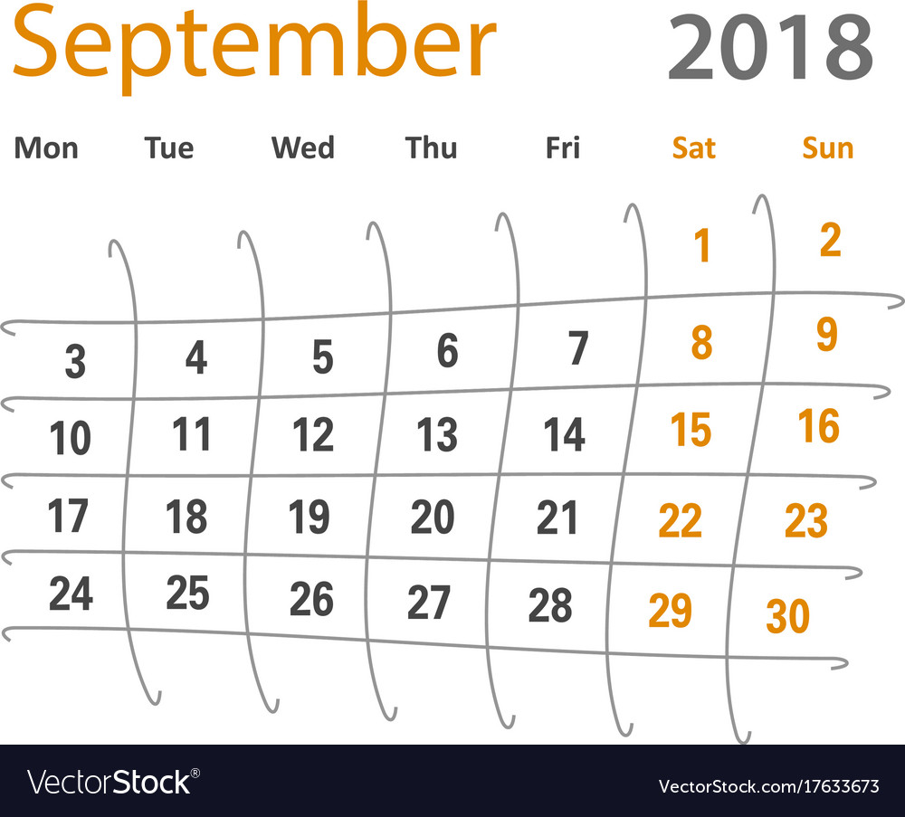 2018 funny original september creative calendar