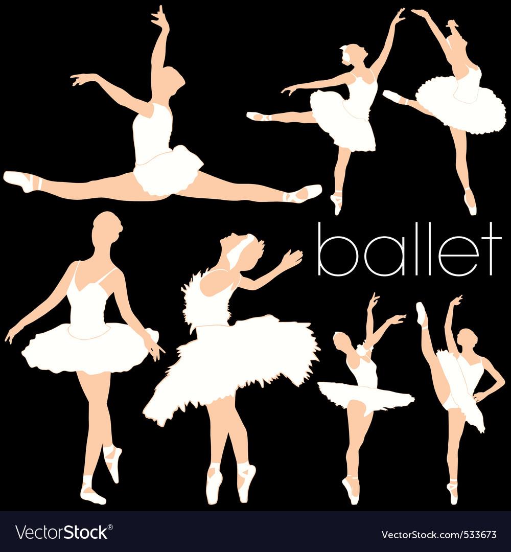 Ballet silhouettes set