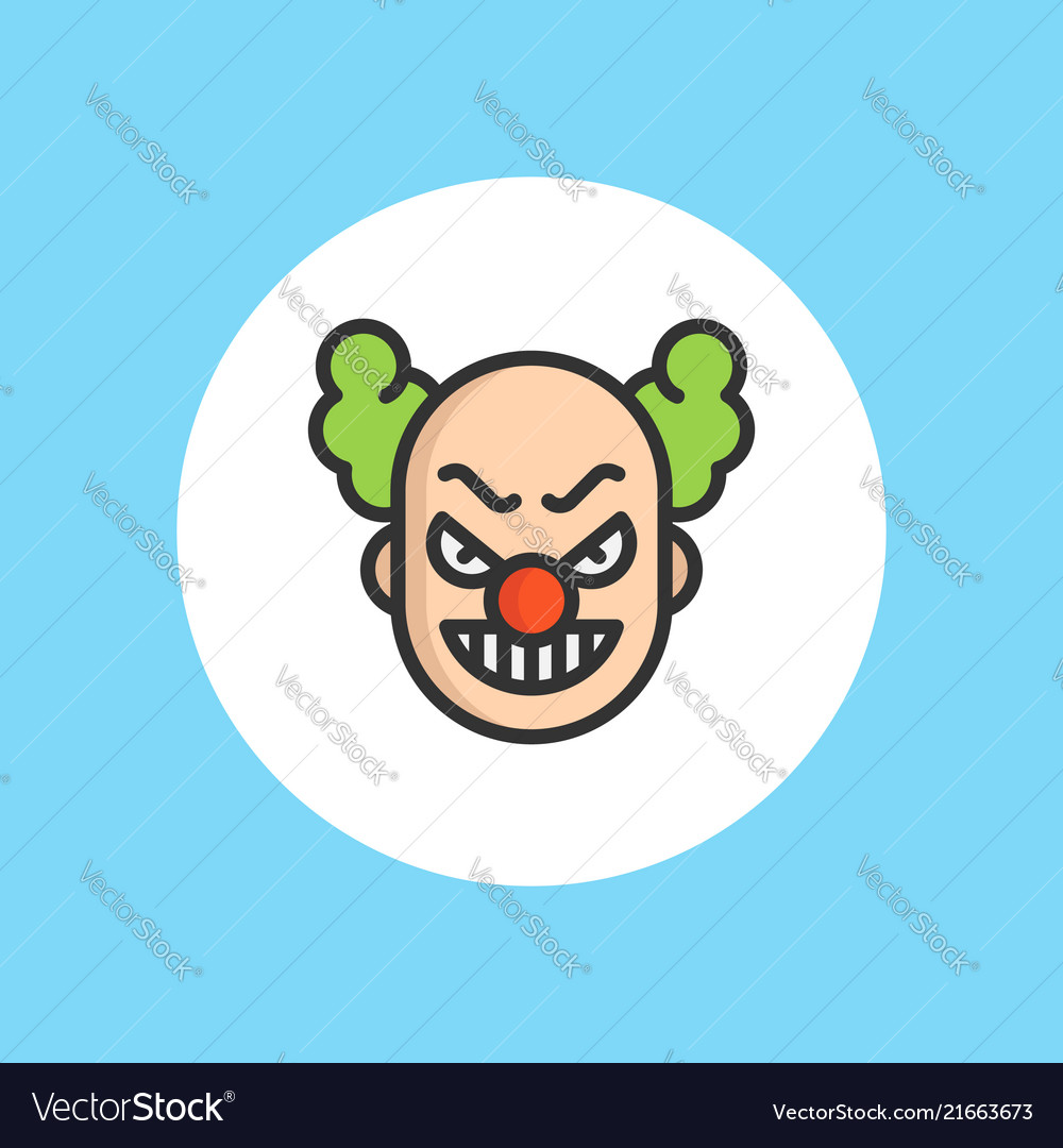 Clown icon sign symbol