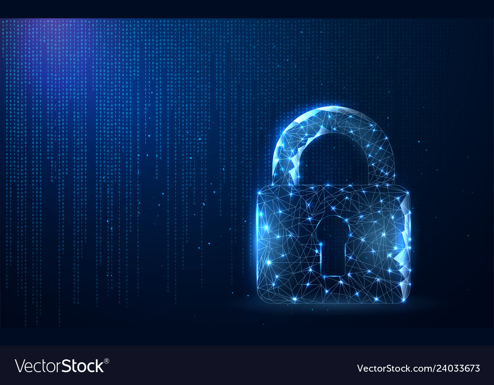 Digital data protect or secure concept security