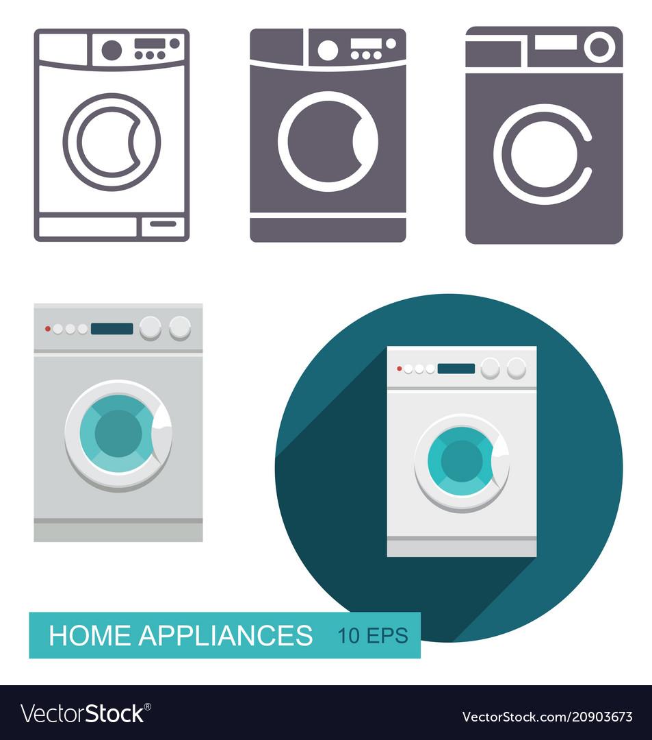 Dishwasher icons