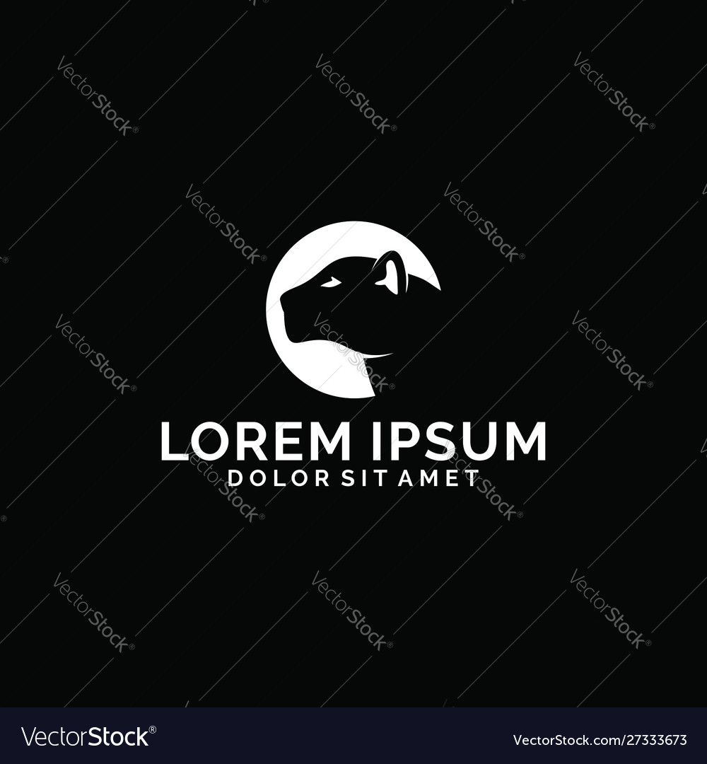 Leopard and moon logo