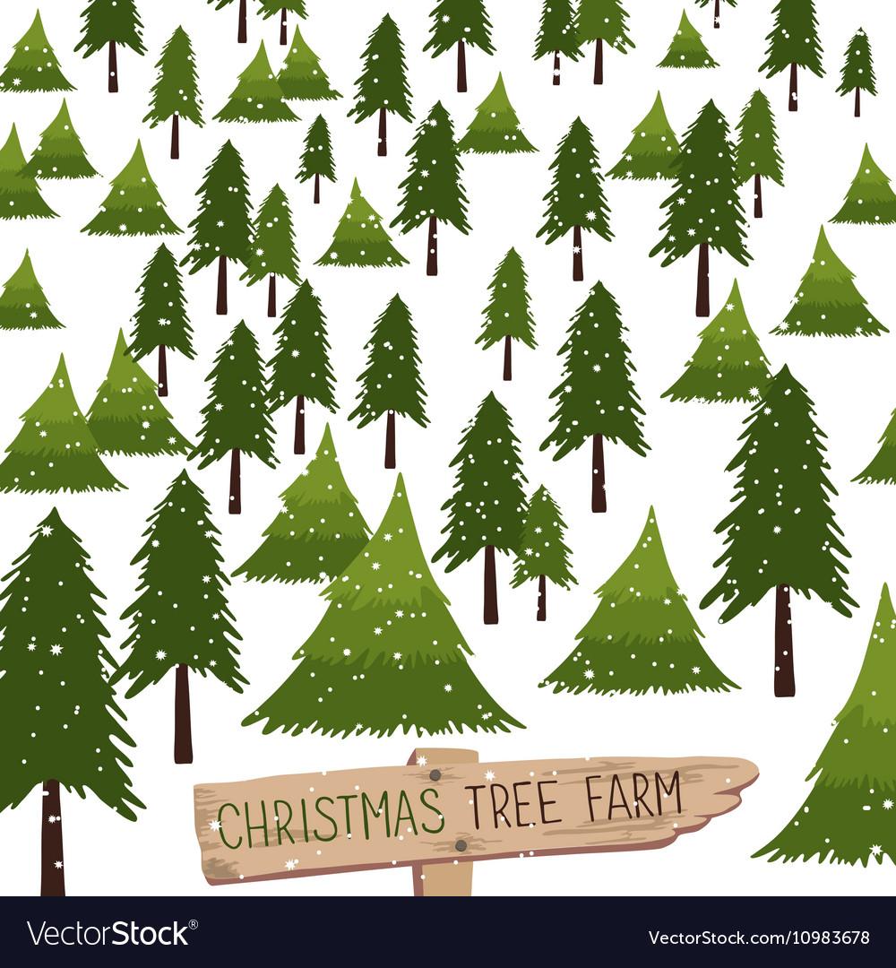christmas tree farm vector image - Christmas Tree Farm Colorado