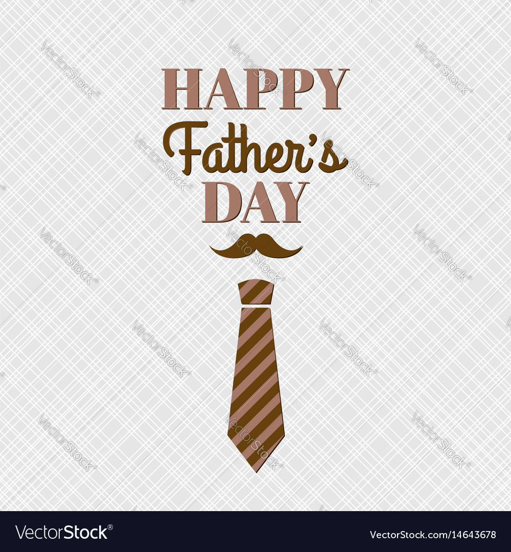 Happy fathers day card with lettering and necktie