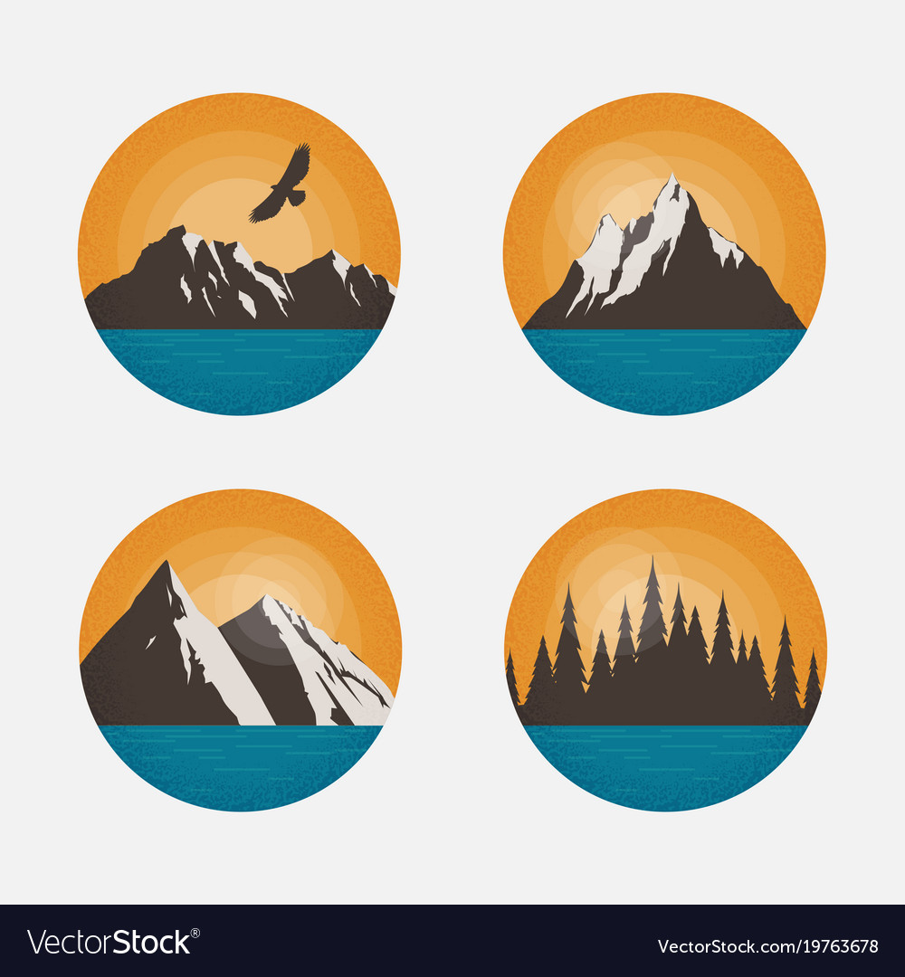 Mountain landscapes in a circle