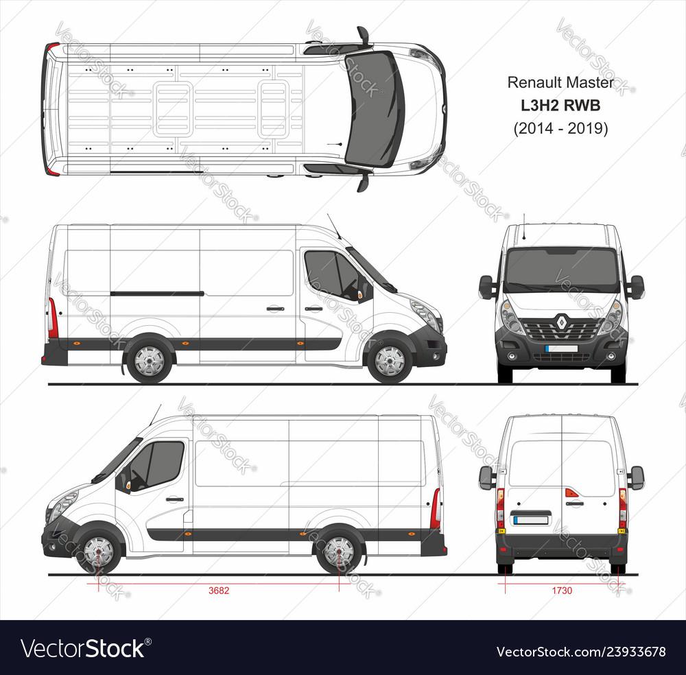 Renault Master Cargo Van L3h2 Rwd 2014