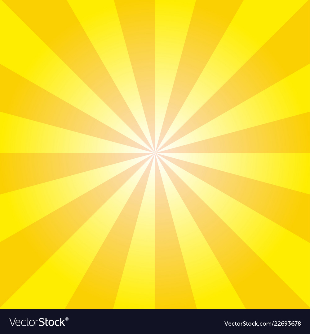 Retro yellow ray background in vintage style