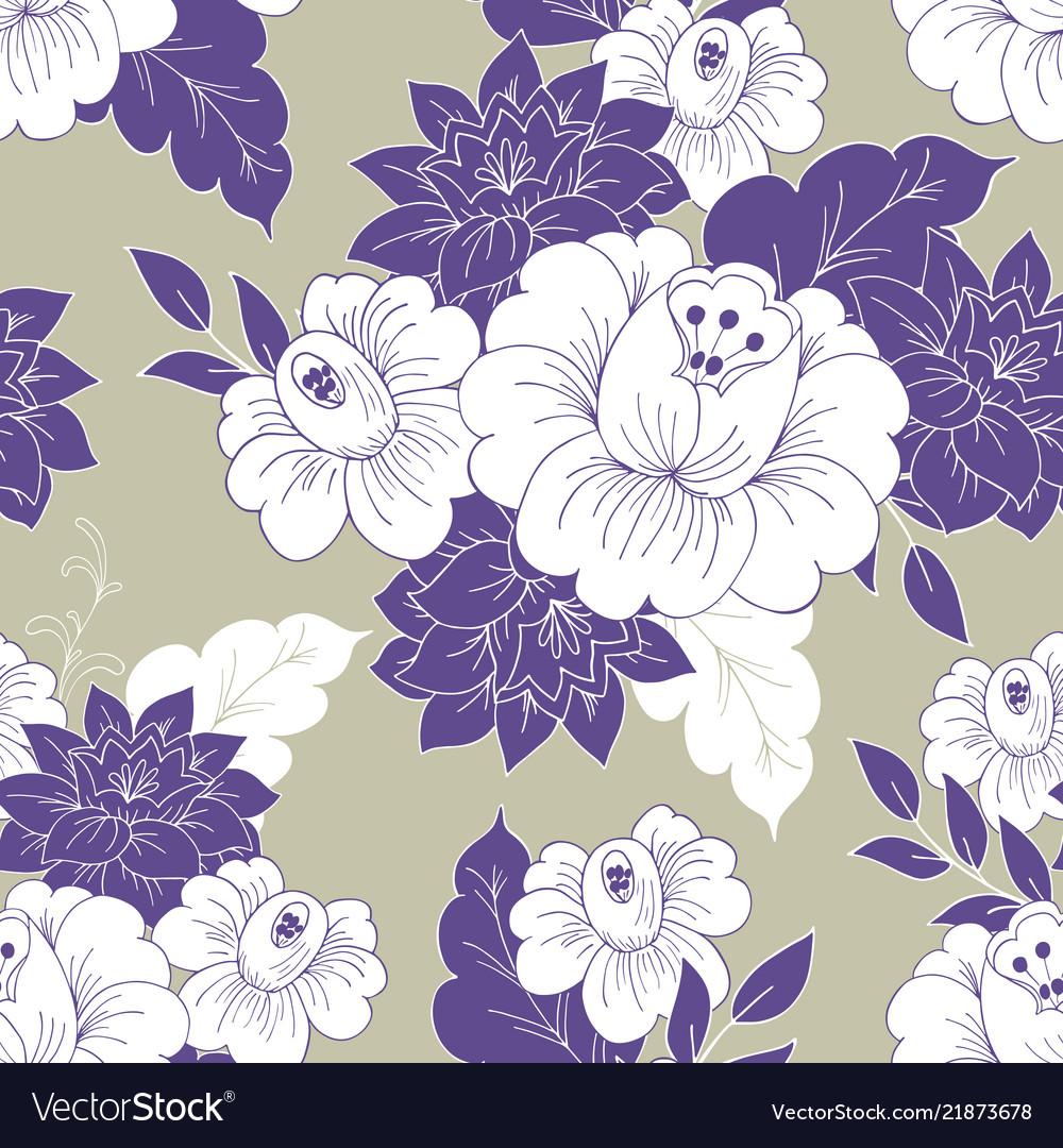 Seamless vintage floral background