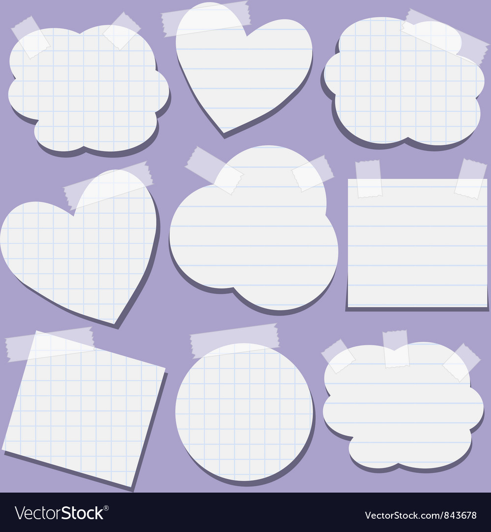 Set of paper stickers with tape vector image