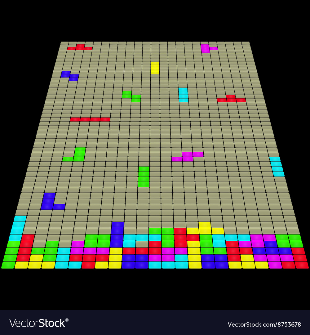 The old game Tetris 3D