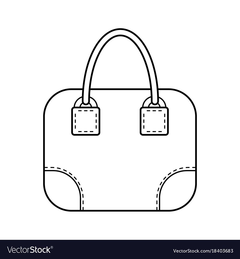 Bag flat linear icon of a fashion accessory
