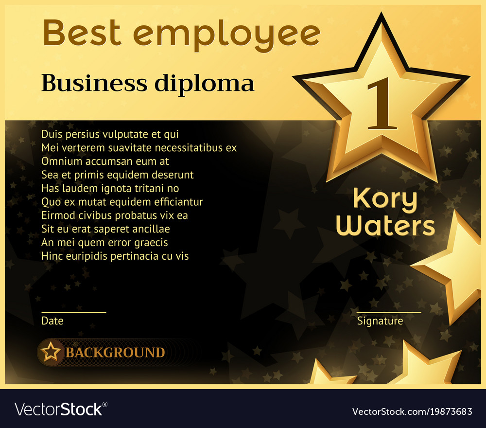 best monthly employee business diploma recognition
