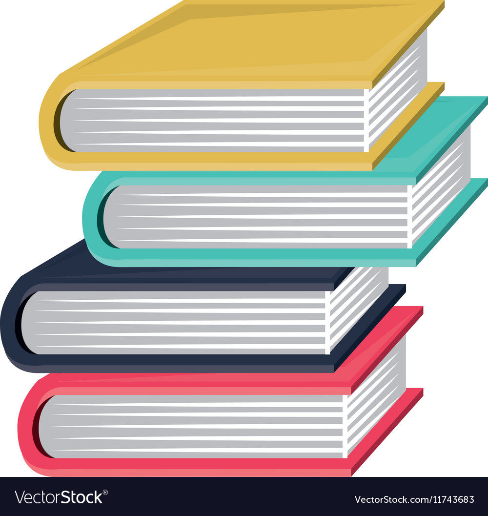 colorful and irregular stacked books royalty free vector