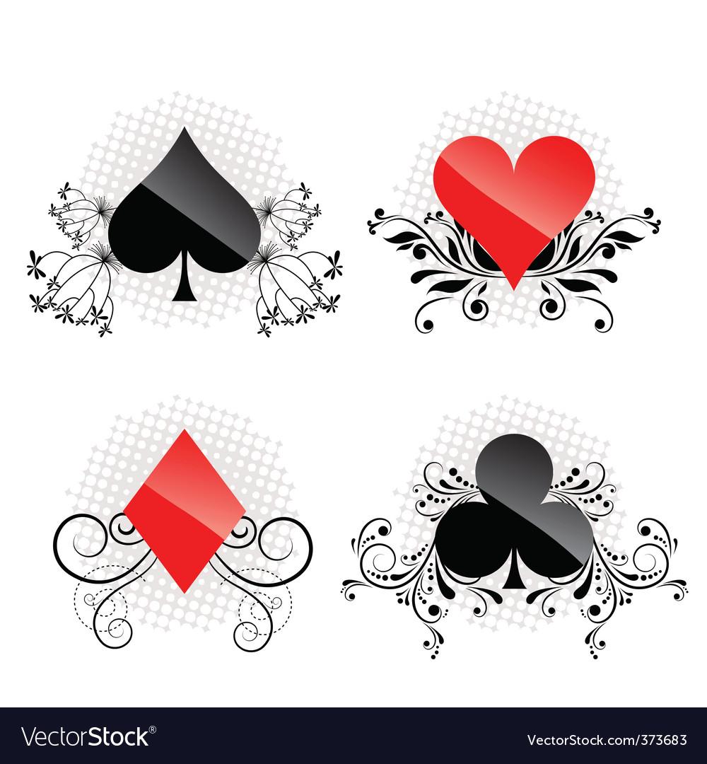 Decorative card symbols