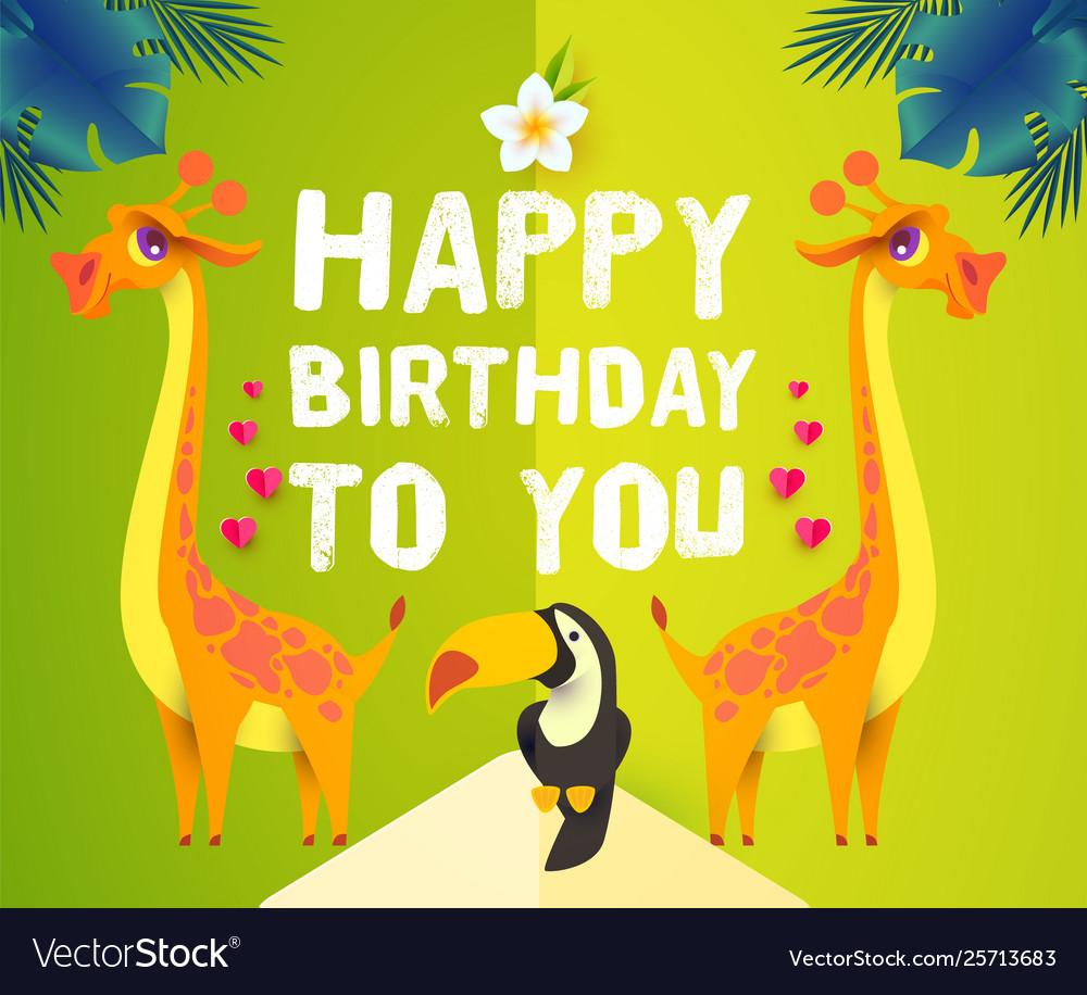 Happy birthday children event tropic and exotic