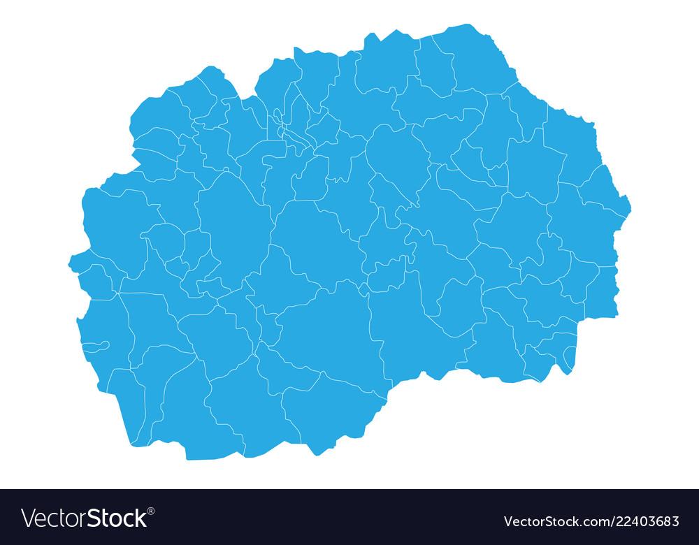 Map Of Macedonia High Detailed Map Macedonia Vector Image