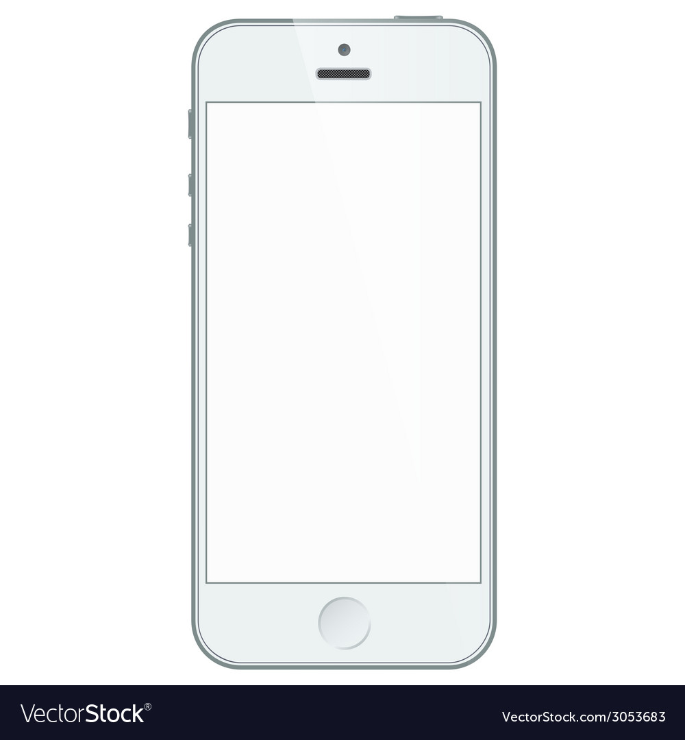 iphone blank screen realistic white iphone 5s with blank screen vector image 11653
