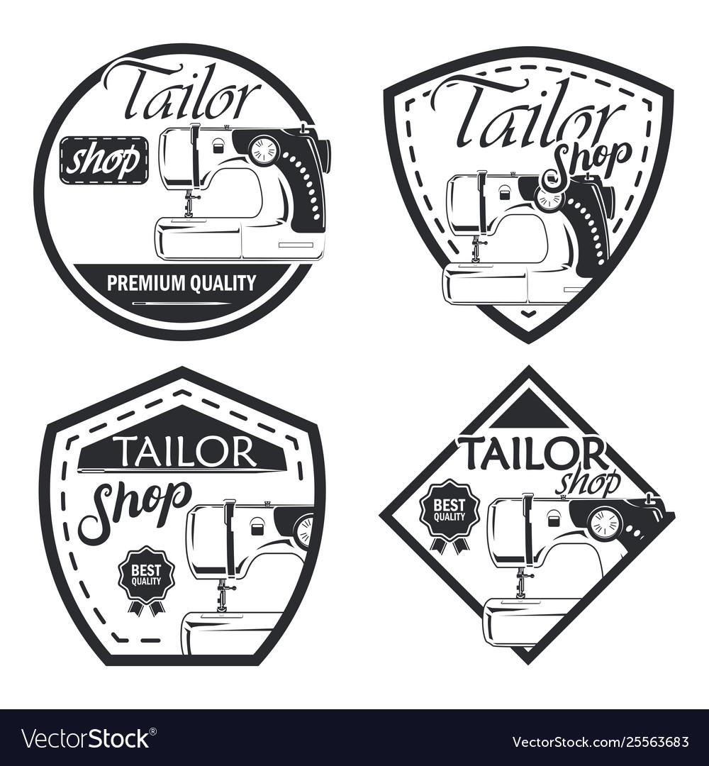 Set 4 tailor badge
