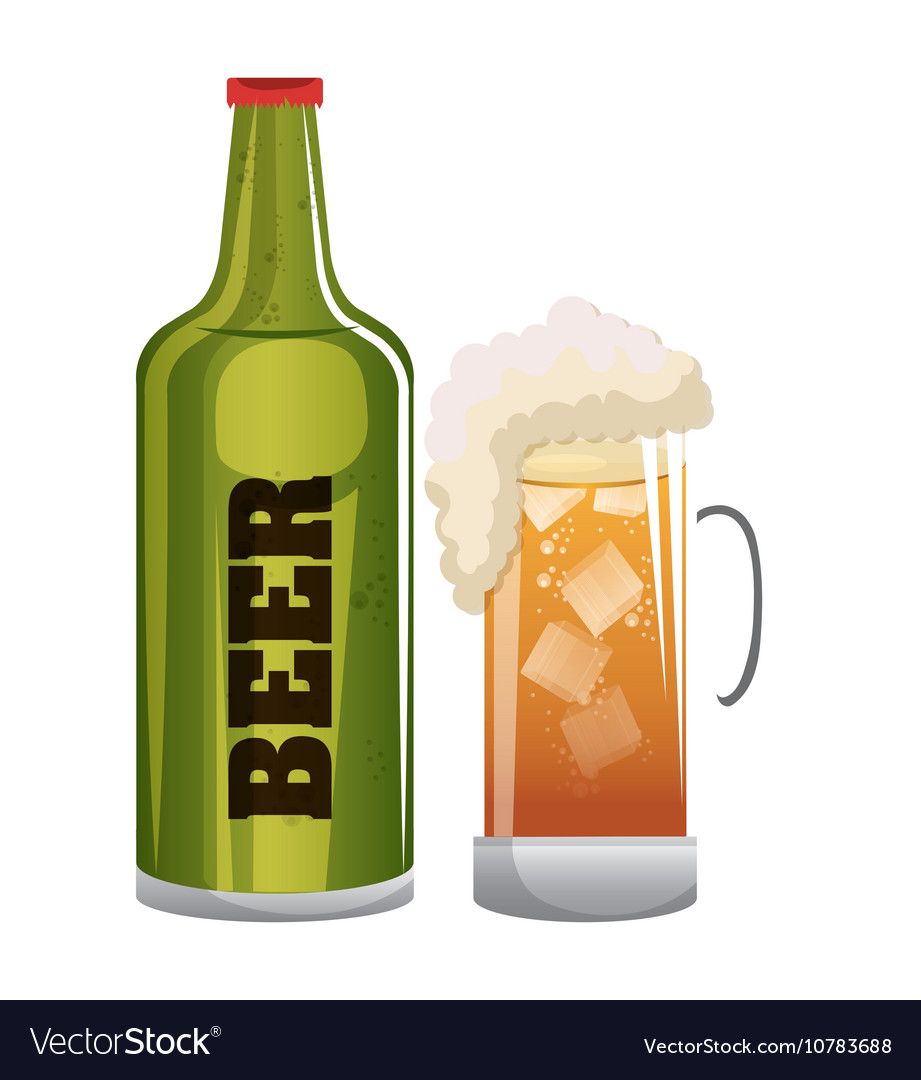 Beer glass icon design graphic