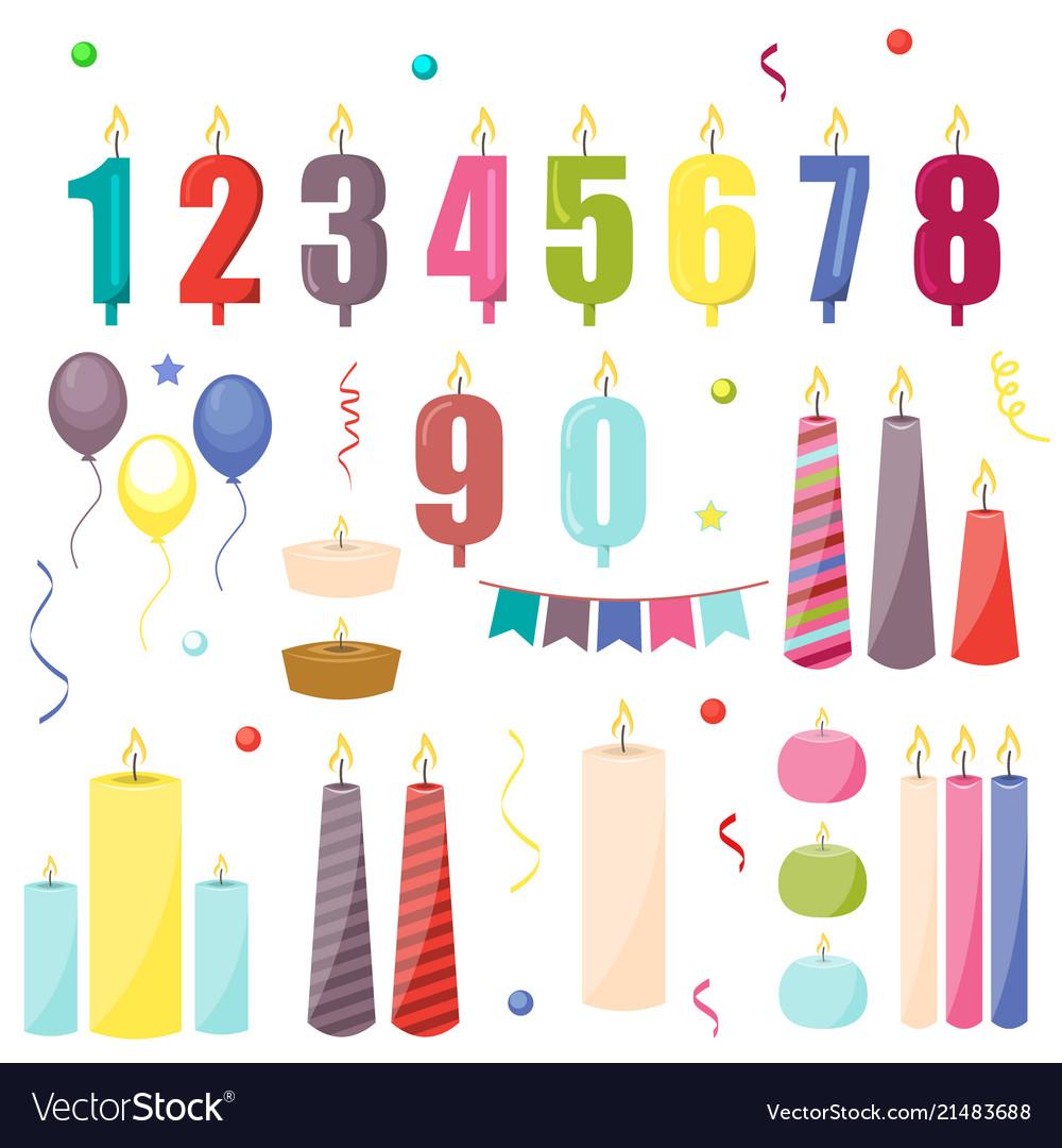 Birthday cake candles celebration decoration